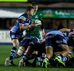 Lloyd Williams of Cardiff Blues puts in to the scrum<br /> <br /> Photographer Simon King/Replay Images<br /> <br /> Guinness PRO14 Round 14 - Cardiff Blues v Connacht - Saturday 26th January 2019 - Cardiff Arms Park - Cardiff<br /> <br /> World Copyright © Replay Images . All rights reserved. info@replayimages.co.uk - http://replayimages.co.uk