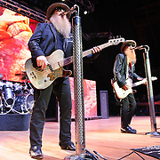 "COLUMBIA, MD - October 6th, 2012 - ZZ Top perform at the 2012 Virgin Mobile FreeFest in Columbia, MD. The band played new material from their recently released album La Futura, as well as old hits such as ""Legs"" and ""Gimme All Your Lovin."" (Photo by Kyle Gustafson / For The Washington Post)"