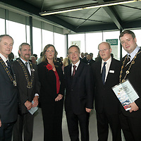Pictured at the launch of the new  Bus Eireann  Express Service at Shannon.<br /> <br /> Pat Keane Mayor Of Clare, Deputy Mayor Of Shannon Tony Mc Mahon, Mirian Flynn Area Manager Bus Eireann Limerick.. Minister for Transport  Martin Cullen.  Chairman C I E  Dr John Lynch.  and Mayor Of Limerick Diarmuid Scully.