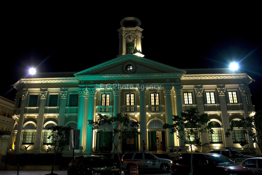 2008-07-29-Mayaguez, Puerto Rico-City Hall of the Town of Mayaguez on the West Coast of the Island of Puerto Rico.