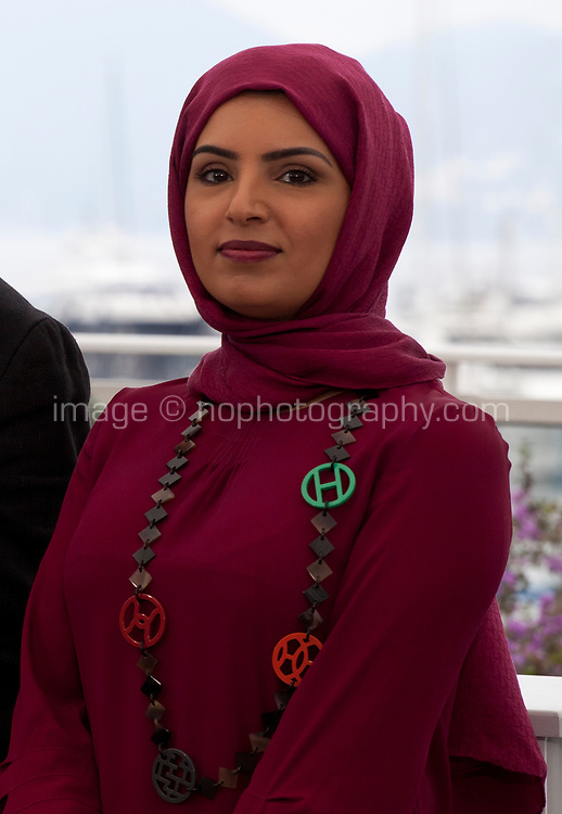 Fatma Hassan Alremaihi at It Must Be Heaven film photo call at the 72nd Cannes Film Festival, Friday 24th May 2019, Cannes, France. Photo credit: Doreen Kennedy