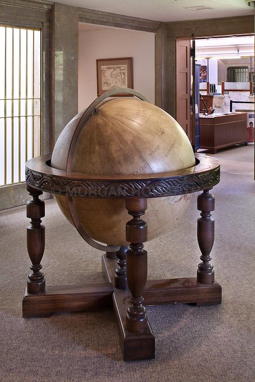 Antique large floor globe