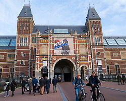 Exterior of the Rijksmuseum in Amsterdam, The Netherlands