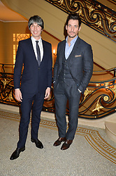 Left to right, PROF.BRIAN COX and DAVID GANDY at a reception to celebrate the Debrett's 500 2015 - a recognition of Britain's 500 most influential people, held at The Club at The Cafe Royal, 68 Regent Street, London on 26th January 2015.