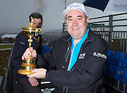 The Aberdeen Asset Management Scottish Open Golf Championship 2012 At Castle Stuart Golf Links..Final Round Saturday 14-07-12.. .Rt Hon First Minister Alex Salmond MSP  with the Ryder Cup, during the Final Round of The Aberdeen Asset Management Scottish Open Golf Championship 2012 At Castle Stuart Golf Links. The event is part of the European Tour Order of Merit and the Race to Dubai....At Castle Stuart Golf Links, Inverness, Scotland...Picture Mark Davison/ ProLens PhotoAgency/ PLPA.Saturday 14th July 2012.
