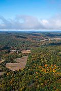 Image from a flight over Sauk County, Wisconsin and the Baraboo Hills  on a beautiful autumn day.
