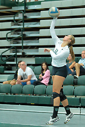 26 August 2017:  Maddie Williams during the green-white scrimmage of the Illinois Wesleyan Titans in Shirk Center, Bloomington IL