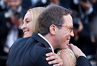 Uma Thurman, President of the Un Certain Regard  Jury, and Reda Kateb  arriving to the Closing Ceremony and awards at the 70th Cannes Film Festival Sunday 28th May 2017, Cannes, France. Photo credit: Doreen Kennedy