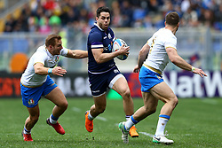 March 17, 2018 - Rome, Italy - Rugby NatWest 6 Nations: Italy v Scotland..Tommy Seymour of Scotland at Olimpico Stadium in Rome, Italy on March 17, 2017. (Credit Image: © Matteo Ciambelli/NurPhoto via ZUMA Press)