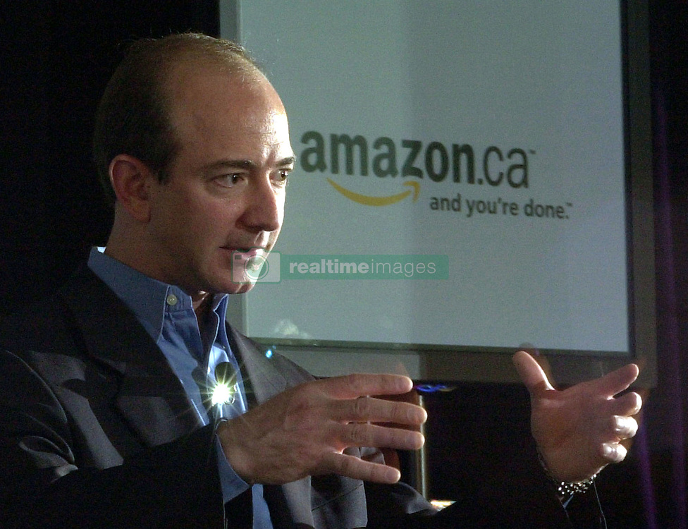Nov 03, 2003; Toronto, ON, Canada; (FILE PHOTO) Jeff Bezos, CEO of amazon .com, launched amazon.ca in Toronto today. The Grand Hotel..  (Credit Image: Toronto Star/ZUMAPRESS.com)