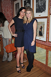 Left to right, ALEXANDRA MEYERS and AMBER AIKENS at a lunch hosted by Roger Viver in honour of Bruno Frisoni their creative director, held at Harry's Bar, 26 South Audley Street, London on 31st March 2011.