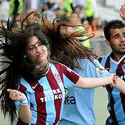 Trabzonspor's supporters during their Turkish superleague soccer match Trabzonspor between Denizlispor at the Avni Aker Stadium in Trabzon Turkey on Monday, 10 May 2010. Photo by TURKPIX