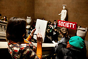 Ahead of today's big student march, students from mainly Humanities and Arts gathered at British Museum to re-claim a public space and held a short work shop in drawing. All went peaceful and in spite the anger at Government cuts in education it was full of joy.