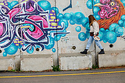 Graffiti on the separation wall of the Israeli Lebanese Border from the Israeli side