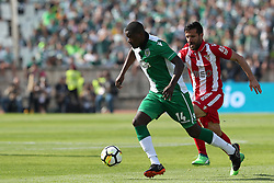 May 20, 2018 - Lisbon, Portugal - Sporting's midfielder William Carvalho from Portugal (L)  vies with Aves' defender Braga during the Portugal Cup Final football match CD Aves vs Sporting CP at the Jamor stadium in Oeiras, outskirts of Lisbon, on May 20, 2015. (Credit Image: © Pedro Fiuza/NurPhoto via ZUMA Press)