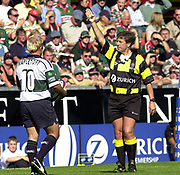 Leicester, 13th September 2003, Zurich Premiership Rugby,  Welford Road, <br /> [Mandatory Credit; Peter Spurrier/Intersport Images]<br /> Zurich Premiership Rugby - Leicester Tigers v London Irish.<br /> Referee Tony Spreadbury