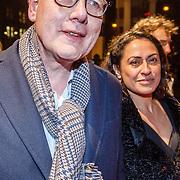 NLD/Amsterdam/20160311 - Inloop Boekenbal 2016, P. F. Thomese en partner Makira Mual