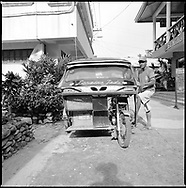 Portrait of a three wheeler driver in El Nido, Palawan, Philippines, Asia
