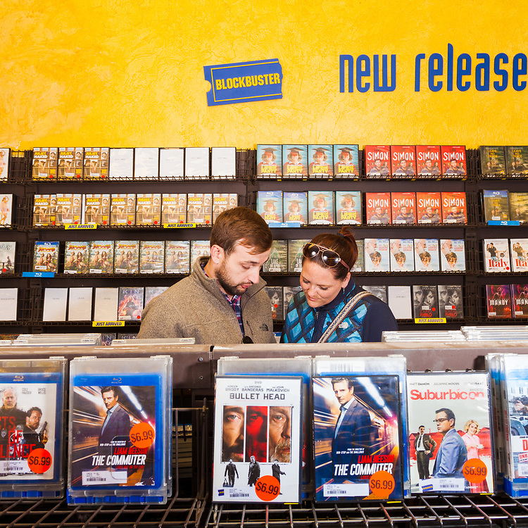 William Day & Robyn Mellow at The last remaining Blockbuster Video store in Bend Oregon