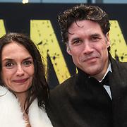 NLD/Amsterdam/20140508 - Wereldpremiere Musical Anne, Daniel Boissevain en partner Vanessa Henneman