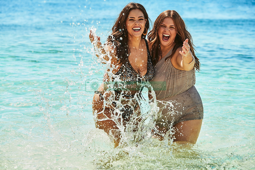 """Ashley Graham proudly shows off her voluptuous figure alongside her sister in the new Swimsuits For All summer collection. The 31-year-old plus-size model is joined by her younger sister Abigail in the summery beach photoshoot, where the pair are seen cavorting together in the surf. The new capsule collection celebrates the 'immeasurable relationship, unconditional support, and encouragement that is shared among Ashley and her sister Abigail,' according to the brand and the campaign was shot on the beaches ofPunta Cana, in the Dominican Republic. The campaign captures their sisterly bond through a series of """"then and now"""" family photos, traveling back in time to their adolescence. Ashley said: 'Despite our six-year age difference and busy lifestyles, my little sister and I have always been strong presences in each other's lives. We've shared countless memories together and going through our childhood photos was a trip down memory lane. 'Abigail has always been my rock, and I was honored to have her by my side during this photoshoot. Plus, she's a new mom and has never looked hotter in a swimsuit!' Abigail was also thrilled to model alongside Ashley. 'I love tosupport Ashley in everything she does, especially when it comes to promoting her message of beauty beyond size. As children, Ashley and I created a very tight bond that we have been able to carry over to adulthood. 'Every summer, we would go on road trips together to different states. I'll never forget Ashley getting stung by jellyfish inFlorida. It was hilarious! I'll forever be grateful for the sisterly love we have for one another and will never forget the special moments we shared during the photoshoot inPunta Cana,"""" says Abigail. The nine-piece swim collection features mesh panels, netting, exotic florals and animal prints. Styles to highlight include thePhenom Triangle Monkini, Red Orange Heiress High Waist Bikini, andGalaOneShoulderOnePiece. Retailing under$104, the As"""