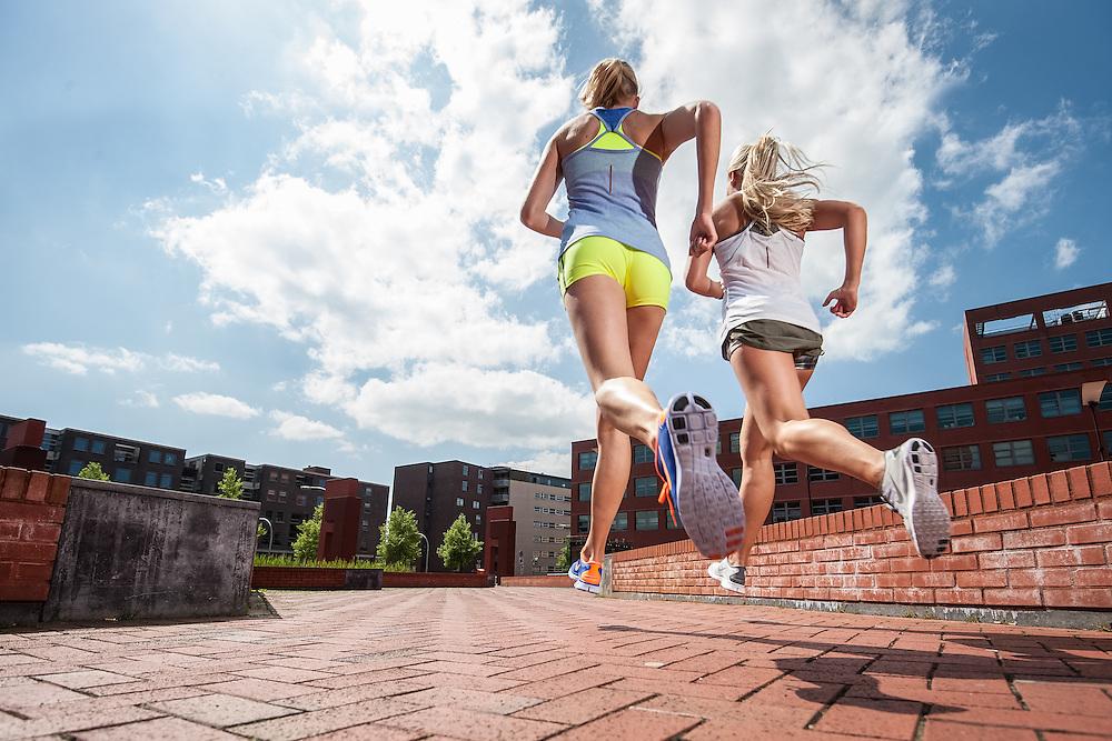 Photoshoot to promote the Nike Free running shoe
