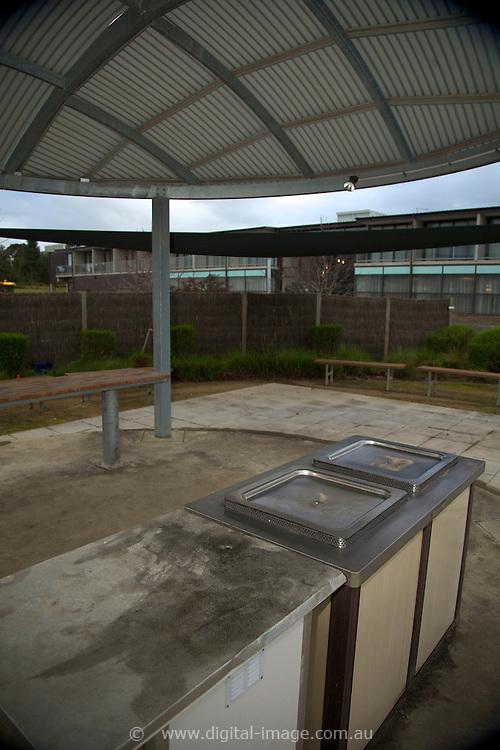 User Accomodation at the Australian Synchrotron, exterior view  BBQ facility