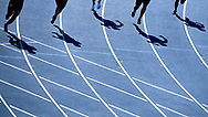 Poland, Radom - 2020 September 12: Men's 200 meters semifinal while 74. PZLA Athletics Polish Championships U20 - Radom 2020 - Day#2 during pandemic COVID-19 at MOSiR Stadium on September 12, 2020 in Radom, Poland.<br /> <br /> Mandatory credit:<br /> Photo by © Adam Nurkiewicz<br /> <br /> <br /> Adam Nurkiewicz declares that he has no rights to the image of people at the photographs of his authorship.<br /> <br /> Picture also available in RAW (NEF) or TIFF format on special request.<br /> <br /> Any editorial, commercial or promotional use requires written permission from the author of image. Single publication only for informational, journalistic or documentary purposes inside a newspaper, magazine or book (digital versions allowed). One edition on the territory of one country. Resale is forbidden.<br /> <br /> Image can be used in the press when the method of use and the signature does not hurt people on the picture.