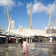 London, England, December 2011. North Greenwich Arena.