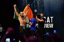 "Nov 12, 2016 - New York, New York, U.S. - Eddie Alvarez and Conor ""The Notorious"" McGregor during weigh-in at UFC 205 in Madison Square Garden. (Credit Image: ? Jason Silva/ZUMA Wire/ZUMAPRESS.com)"