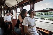 Trem ride in Porto, Portugal.
