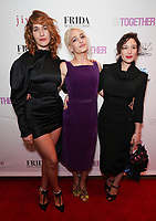 Lola Kirke, Jemima Kirke and Emma Forrest at Los Angeles Premiere Of 'Untogether' held at Frida Restaurant on February 08, 2019 in Sherman Oaks, California, United States (Photo by JC Olivera)