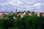 A skyline view of Vilnius' Old Town area