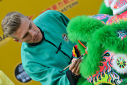 October 28, 2017 - Shanghai, China - Marcel KITTEL during Lion Dance performance, at the 1st TDF Shanghai Criterium 2017 - Media Day..On Saturday, 28 October 2017, in Shanghai, China. (Credit Image: © Artur Widak/NurPhoto via ZUMA Press)