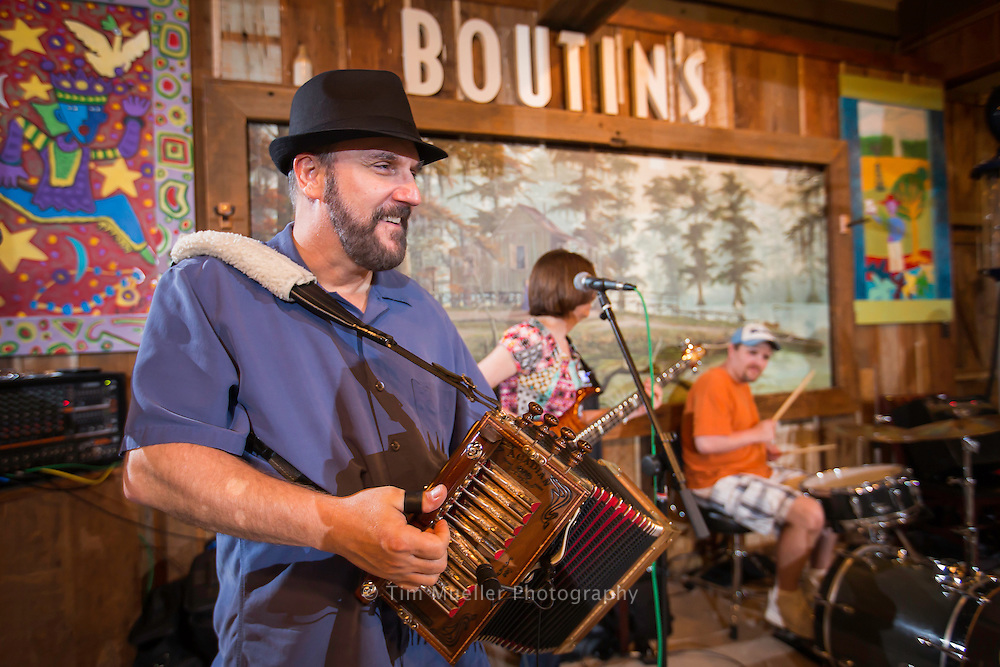Lee Benoit and his band perform Saturday night's at Boutin's in Baton Rouge, La.