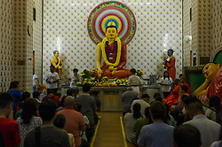 May 10, 2017 - Kuala Lumpur, MALAYSIA - Buddhist devotees pictured during Vesak day celebration at Maha Vihara temple in Kuala Lumpur, Malaysia, on May 10, 2017. Vesak day on the full-moon day of the sixth lunar month an annual celebration of Buddha's birth, enlightenment and death (Credit Image: © Chris Jung via ZUMA Wire)