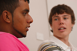 Teenagers talking