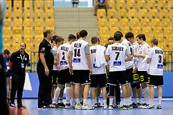 Players of team Germany during handball match between National teams of Germany and Portugal in game for Third place of 2018 EHF U20 Men's European Championship, on July 29, 2018 in Arena Zlatorog, Celje, Slovenia. Photo by Urban Urbanc / Sportida