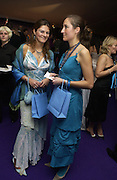 Maria del Mar and Auriane de Halleux. British Red Cross London Ball,- H20 the Element of Life held at the Room By the River. SE1. 17 November 2005. ONE TIME USE ONLY - DO NOT ARCHIVE  © Copyright Photograph by Dafydd Jones 66 Stockwell Park Rd. London SW9 0DA Tel 020 7733 0108 www.dafjones.com