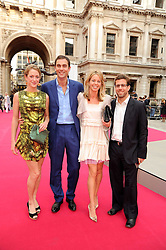 Left to right, HUGH & ROSE VAN CUTSEM and GAVIN & FI MCALPINE at the Royal Academy of Arts Summer Party held at Burlington House, Piccadilly, London on 9th June 2010.