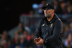 May 1, 2019 - Barcelona, Catalonia, Spain - May 1, 2019 - Barcelona, Spain - Uefa Champions League 1/2 of final second leg, FC Barcelona v Liverpool FC: Jurgen Klopp of Liverpool FC make orders to his players. (Credit Image: © Marc Dominguez/ZUMA Wire)