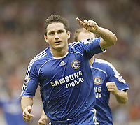 Photo: Aidan Ellis.<br /> Sheffield United v Chelsea. The Barclays Premiership. 28/10/2006.<br /> Chelsea's Frank Lampard celebrates scoring the first goal