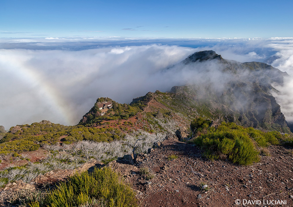 """According to """"Wikipedia"""" - Pico Ruivo is the highest peak on the Madeira Islands. It can be reached only by foot, usually either from Pico do Arieiro (3rd highest) after a strenuous hike, or from Achada do Teixeira with a shorter, easier trail. There is an additional trail leading west to Encumeada. Hut just below the summit is permanently closed but there is water tap and toilets available."""