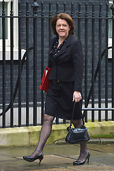 © Licensed to London News Pictures. 20/03/2013. Westminster, UK. Maria Miller, Conservative MP, Secretary of State for Culture, Olympics, Media and  Sport ..Chancellor Of The Exchequer George Osborne poses for photographers whilst holding his red ministerial box outside 11 Downing Street In London, before presenting his annual budget to parliament today 20th March 2013. Photo credit : Stephen Simpson/LNP