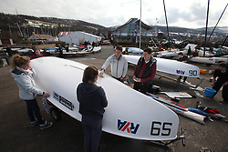 The RYA Youth Championships 2013 held at Largs Sailing Club, Scotland from the 31st March - 5th April. ..Measurement and registration...For Further Information Contact..Matt Carter.Racing Communications Officer.Royal Yachting Association.M: 07769 505203.E: matt.carter@rya.org.uk ..Image Credit Marc Turner / RYA..