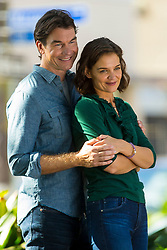EXCLUSIVE: Katie Holmes shares a loving embrace with co-star Jerry O'Connell as part of a photoshoot for their new movie. The Hollywood actress and co-star are shooting a movie adaptation of the self-help best-seller 'The Secret,'. Katie recently sparked rumors of an engagement to boyfriend Jamie Foxx when she was spotted wearing a diamond ring as she walked from the production office to get a coffee - but it was quickly revealed the ring was just a prop as Katie plays Jerry's fiancee in the movie. Holmes, who divorced 'Top Gun' star Tom Cruise in 2012, is believed to have been secretly dating Foxx for five years. Foxx is currently filming his latest movie, 'Power,' which also stars Joseph Gordon-Hewitt. Foxx, 50, and Holmes, 39, went public in April during a PDA-packed beach outing on a Malibu beach after shying away from getting cozy together in public for years. 07 Nov 2018 Pictured: Katie Holmes, Jerry O' Connell. Photo credit: MEGA TheMegaAgency.com +1 888 505 6342