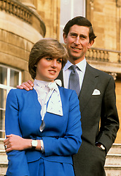"""Embargoed to 0001 Monday August 21 File photo dated 24/2/1981 of the Prince of Wales and Lady Diana Spencer in the grounds of Buckingham Palace after announcing their engagement. Diana, Princess of Wales describes in a new documentary how her future husband the Prince of Wales was all over her """"like a bad rash"""" at the start of their courtship. ... Princess Diana Channel 4 documentary ... 30-07-2017 ... LONDON ... UK ... Photo credit should read: PA/PA Wire. Unique Reference No. 32232920 ... Issue date: Sunday July 30, 2017. Diana reveals Charles' attempts to woo her during a barbecue in Sussex in 1979 when she was 18 was not very romantic. See PA story ROYAL Diana Charles. Photo credit should read: PA/PA Wire"""