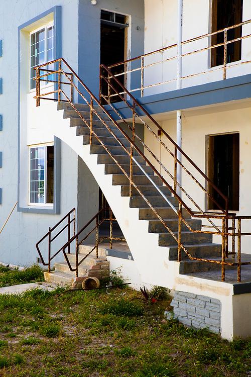 A bayfront, Miami Modern apartment building on Miami Beach's Normandy Isles awaits renovation.