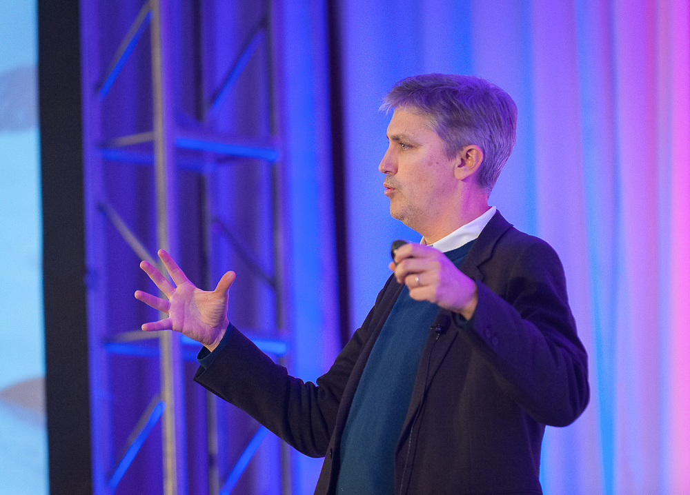 Stephen Johnson, author of How We Got to Now speaking at a conference in Northern Virginia in 2014.