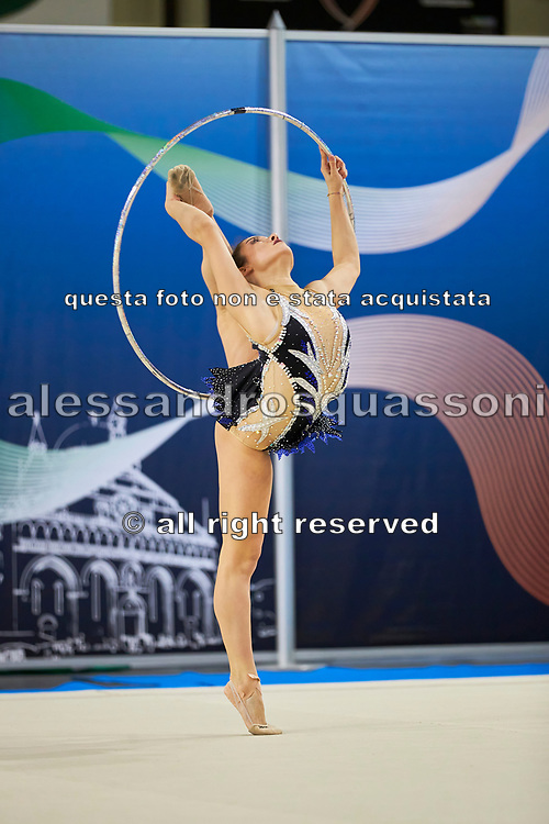 Elisa Todini from Polimnia  team during the Italian Rhythmic Gymnastics Championship in Padova, 25 November 2017.